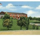 GADSDEN ALABAMA CITY AUDITORIUM  FLAG VINTAGE POSTCARD