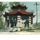 PEORIA IL SQUIRREL HOUSE GLEN OAK PARK 1910 POSTCARD