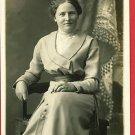 RPPC DELPHOS OHIO HOVERMAN STUDIO WOMAN IN CHAIR