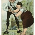 GROSSE WASCHE WASHING CLOTHES GES GERMAN POSTCARD