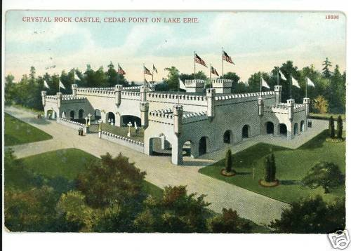 CEDAR POINT OHIO OH CRYSTAL ROCK CASTLE 1909  POSTCARD