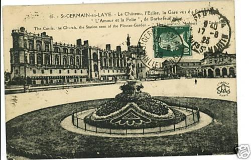 ST GERMAIN FRANCE CHATEAU L'EGLISE  1923 POSTCARD