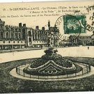 ST GERMAIN FRANCE CHATEAU L'EGLISE  1923 POSTCARD