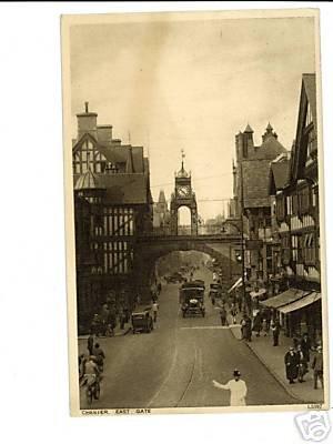 Chester England East Gate Vintage Postcard 1937 UK
