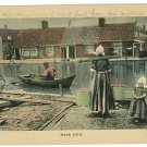 NAAR HUIS HOLLAND GIRLS BUCKETS BOAT HOUSES   POSTCARD