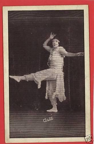 "ARCADE CARD RISQUE WOMAN DANCING ""ASTA""  BEADS"