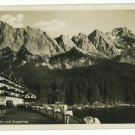 RPPC EIBSEE HOTEL GERMANY ZUGSPITZE OLD CAR POSTCARD