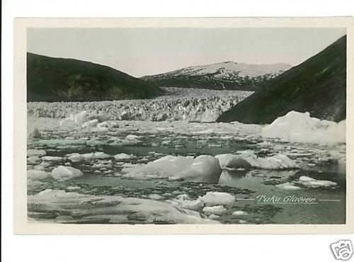 RPPC TAKU GLACIER TINTED POSTCARD ALASKA CANADA