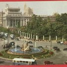 MADRID SPAIN CYBELE FOUNTAIN CARS BUS 1952  POSTCARD