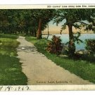 LAKESIDE OHIO OH LOVERS' LANE LAKE ERIE 1943  POSTCARD