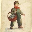 B WALL  BUY A PUPPY  BASKET ARTIST SIGNED 1905 POSTCARD