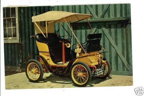 1899 DE DION CAR BUCKEYE GARAGE DELAWARE OHIO  POSTCARD