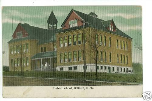 BELLAIRE MI MICHIGAN PUBLIC SCHOOL  POSTCARD