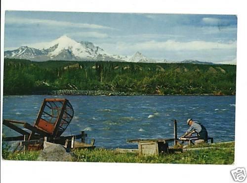 COPPER CENTER ALASKA FISH WHEEL KLUTINA RIVER 1962