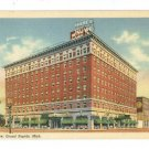 GRAND RAPIDS MI MICHIGAN HOTEL ROWE 1951 SHAW  POSTCARD