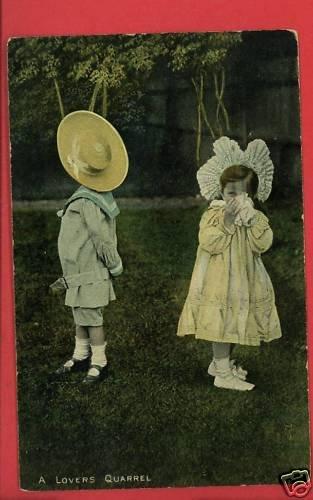 BOY GIRL LOVERS QUARREL MacFARLANE 1916 POSTCARD