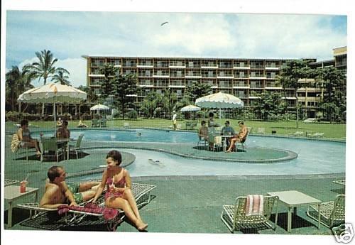 KAANAPALI MAUI HAWAII HI BEACH HOTEL & POOL POSTCARD
