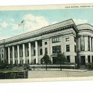 WHEELING WEST VIRGINIA HIGH SCHOOL  CARS  FLAG POSTCARD