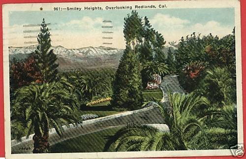 REDLANDS CALIFORNIA SMILEY HEIGHTS 1940   POSTCARD