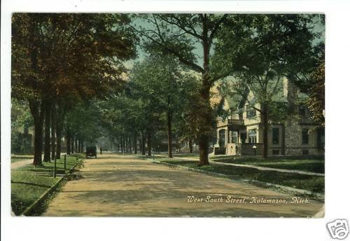 KALAMAZOO MI MICHIGAN SOUTH STREET 1912  POSTCARD