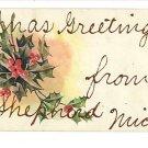 SHEPHERD MICHIGAN MI CHRISTMAS GREETINGS FROM GLITTER