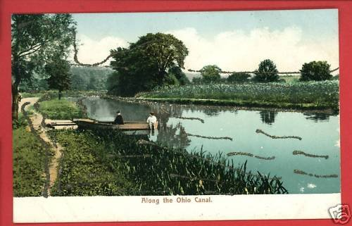 ALONG THE OHIO CANAL CLEVELAND UNDIVIDED BACK  POSTCARD