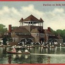DETROIT MICHIGAN MI PAVILION BELLE ISLE BOATS POSTCARD