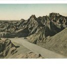 BADLANDS SD SOUTH DAKOTA PINNACLES HANDCOLORED POSTCARD