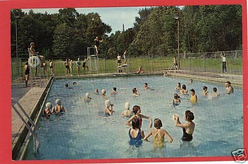 FULTON OHIO LUTHERAN CAMP POOL VINTAGE POSTCARD