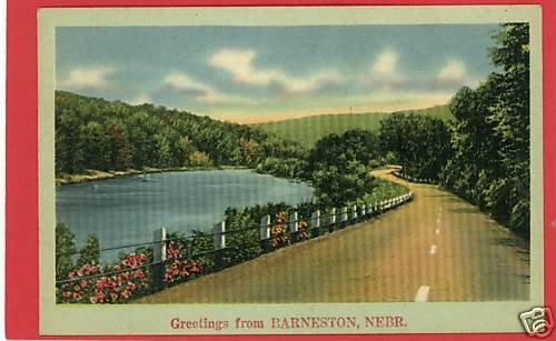 BARNESTON BARNSTON NEBRASKA GREETINGS FROM  POSTCARD