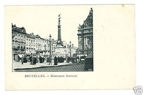 BRUXELLES BRUSSELS BELGIUM ANSPACH UND BACK POSTCARD