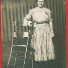 RPPC WOMAN DRESS LADDER BACK CHAIR LILY CHAPEL OHIO RP