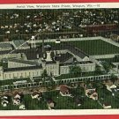 WAUPUN WISCONSIN STATE PRISON AERIAL VIEW 1941 POSTCARD