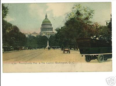 WASHINGTON DC PENNSYLVANIA AVE CAPITOL VINTAGE UND BACK