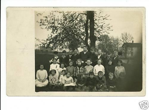 RPPC HEPBURN OHIO OH SCHOOL 1913  KENTON LAUBIS HOUSES