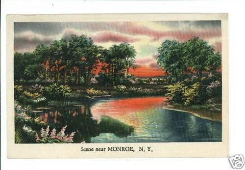 MONROE NY NEW YORK  LAKE SCENE LANDSCAPE POSTCARD