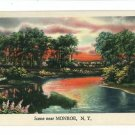 MONROE NY NEW YORK  LAKE SCENE LANDSCAPE POSTCARD