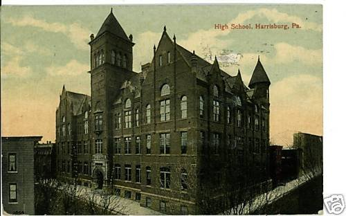 HARRISBURG PENNSYLVANIA PA HIGH SCHOOL POSTCARD HOFFMAN