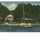 Chautauqua NY Women's Club Sailboat 1957 Postcard