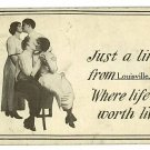 LOUISVILLE OHIO OH JUST A LINE FROM 1912  POSTCARD