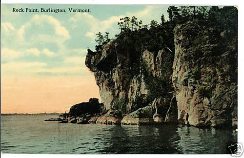 BURLINGTON VERMONT VT ROCK POINT POSTCARD