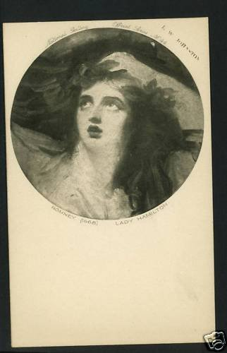 LADY HAMILTON ROMNEY JOHNSTON NATL GALLERY  POSTCARD