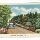 MONROE NY NEW YORK CAR  ROAD SCENE LANDSCAPE POSTCARD