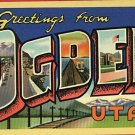 OGDEN UTAH  GREETINGS FROM 1941 POSTCARD