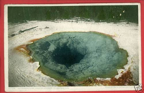 MORNING GLORY GEYSER YELLOWSTONE PARK WY 1910 POSTCARD