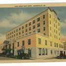 GAINESVILLE GA GEORGIA DIXIE HUNT HOTEL POSTCARD