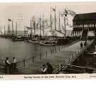 ATLANTIC CITY NEW JERSEY NJ SAILING YACHTS 1908  RPPC
