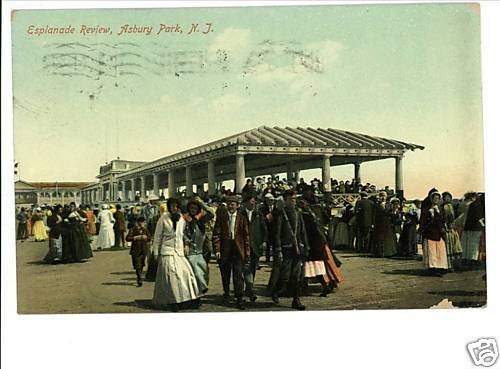 ASBURY PARK NEW JERSEY NJ ESPLANADE REVIEW '09 POSTCARD