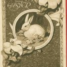 EASTER RABBITS CHICKS GIBSON ART COMPANY  POSTCARD