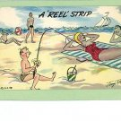 TONY ROY COMIC REEL STRIP RISQUE BEACH POSTCARD